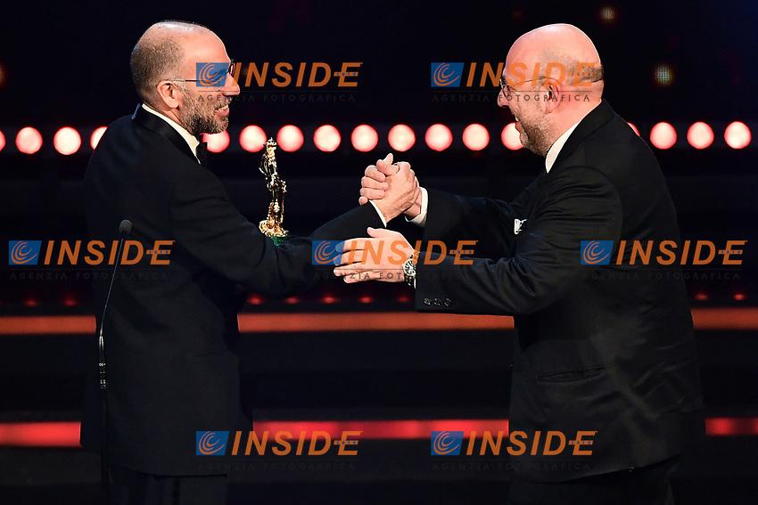 Giuseppe Tornatore e Paolo Virzi'<br /> Roma 27-03-2017. Premio David di Donatello 2017.<br /> Rome March 27th 2017. David di Donatello ceremony 2017. <br /> Foto Antonello Sammarco/Image/Insidefoto