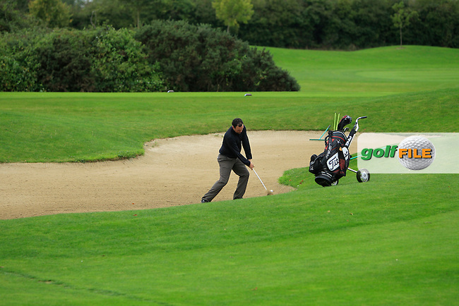 James Quinlivan (Mullingar G.C) on the 14th during Round 4 of The Cassidy Golf 103rd Irish PGA Championship in Roganstown Golf Club on Sunday 13th October 2013.<br /> Picture:  Thos Caffrey / www.golffile.ie