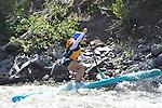 7/9/14 am Stand Up Paddle Colorado Upper Colorado River - Rancho Del Rio to State Bridge