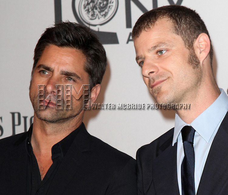 John Stamos & Matt Stone pictured at the 66th Annual Tony Awards held at The Beacon Theatre in New York City , New York on June 10, 2012. © Walter McBride / WM Photography