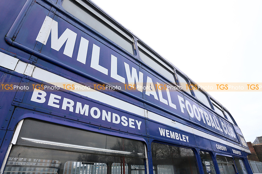 General view of the Millwall bus in the car park during Millwall vs Watford, Emirates FA Cup Football at The Den on 29th January 2017