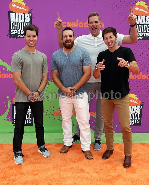 13 July 2017 - Los Angeles, California - Coby Cotton, Tyler Toney, Cody Jones, Cory Cotton. Nickelodeon Kids' Choice Sports Awards 2017 held at Pauley Pavilion. Photo Credit: F. Sadou/AdMedia