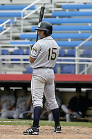July 14, 2004:  Argenis Reyes of the Mahoning Valley Scrappers, Short-Season Low-A NY-Penn League affiliate of the Cleveland Indians, during a game at Russell Diethrick Park in Jamestown, NY.  Photo by:  Mike Janes/Four Seam Images