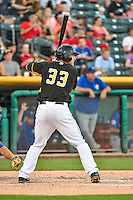 Roger Kieschnick (33) of the Salt Lake Bees at bat against the Las Vegas 51s in Pacific Coast League action at Smith's Ballpark on June 25, 2015 in Salt Lake City, Utah.  Las Vegas defeated Salt Lake 20-8.  (Stephen Smith/Four Seam Images)