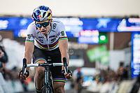 World Champion Wout Van Aert (BEL) finishing 2nd. <br /> <br /> UEC CYCLO-CROSS EUROPEAN CHAMPIONSHIPS 2018<br /> 's-Hertogenbosch – The Netherlands<br /> Men Elite Race