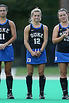 30 September 2016: Duke's Margaux Paolino. The Duke University Blue Devils hosted the Boston College Eagles at Jack Katz Stadium in Durham, North Carolina in a 2016 NCAA Division I Field Hockey match. Duke won the game 6-2.