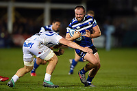 Tom Dunn of Bath Rugby in possession. Gallagher Premiership match, between Bath Rugby and Exeter Chiefs on October 5, 2018 at the Recreation Ground in Bath, England. Photo by: Patrick Khachfe / Onside Images