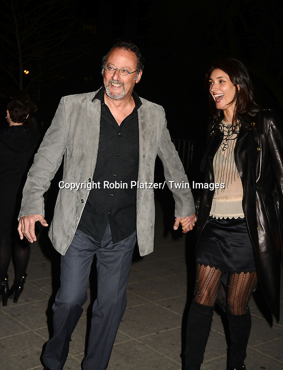 Jean Reno and wife attends the Vanity Fair Party for the 2013 Tribeca Film Festival on April 16, 2013 at State Suprme Courthouse in New York City.