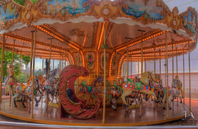 Carousel in Barcelona in HDR
