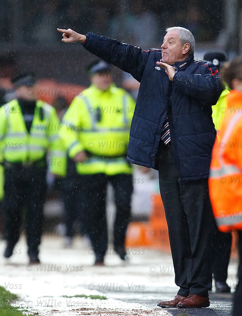 Walter Smith not happy on the sidelines as he shouts to his Rangers team