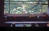 F.L. Wright: Fallingwater. Interior Living Room.  Photo '76.