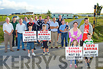 ENOUGH IS ENOUGH: The residents of Banna and Carrahane voicing their objections to caravan parks at Banna on Tuseday.