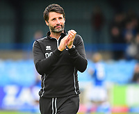 Lincoln City manager Danny Cowley applauds the fans at the final whistle<br /> <br /> Photographer Andrew Vaughan/CameraSport<br /> <br /> The EFL Sky Bet League One - Macclesfield Town v Lincoln City - Saturday 15th September 2018 - Moss Rose - Macclesfield<br /> <br /> World Copyright &copy; 2018 CameraSport. All rights reserved. 43 Linden Ave. Countesthorpe. Leicester. England. LE8 5PG - Tel: +44 (0) 116 277 4147 - admin@camerasport.com - www.camerasport.com