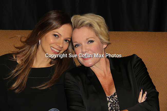General Hospital's actors  Tamara Braun & Maura West on October 5, 2019 at the Hollywood Casino, Columbus, Ohio with a Q & A and a VIP meet and greet. (Photo by Sue Coflin/Max Photo)