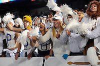 22 October 2016:  Fans in the student section cheer during the 10th ever whole stadium white out. The Penn State Nittany Lions upset the #2 ranked Ohio State Buckeyes 24-21 at Beaver Stadium in State College, PA. (Photo by Randy Litzinger/Icon Sportswire)