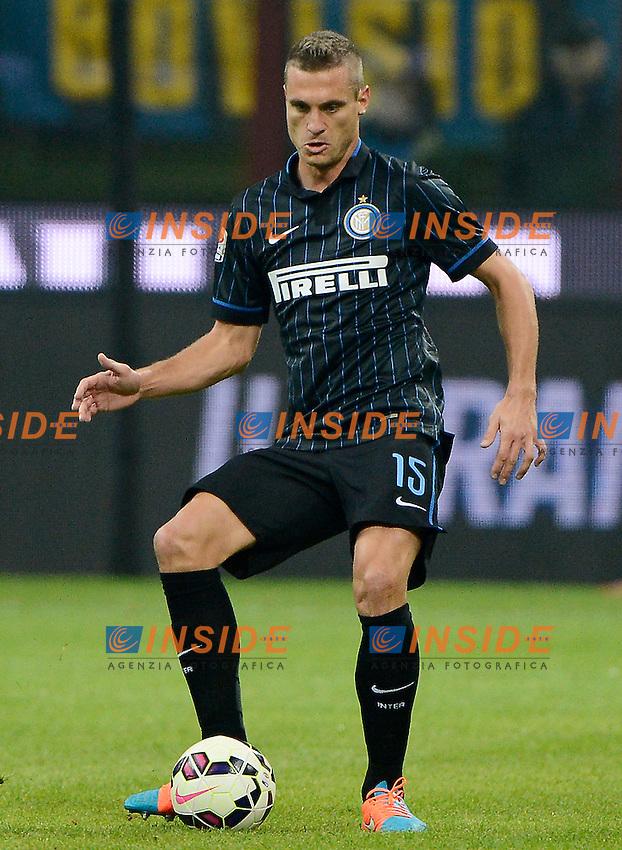 Nemanja Vidic Inter<br /> Milano 29-10-2014 Stadio Giuseppe Meazza - Football Calcio Serie A Inter - Sampdoria. Foto Giuseppe Celeste / Insidefoto