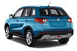 Car pictures of rear three quarter view of a 2015 Suzuki Vitara Lux Extra 5 Door SUV angular rear