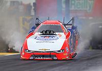 May 19, 2017; Topeka, KS, USA; NHRA funny car driver Robert Hight during qualifying for the Heartland Nationals at Heartland Park Topeka. Mandatory Credit: Mark J. Rebilas-USA TODAY Sports
