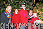 Derry, Hannah, Grace, Brigeen and Chloe O'Sullivan at the Killorglin Christmas parade on Sunday evening ..