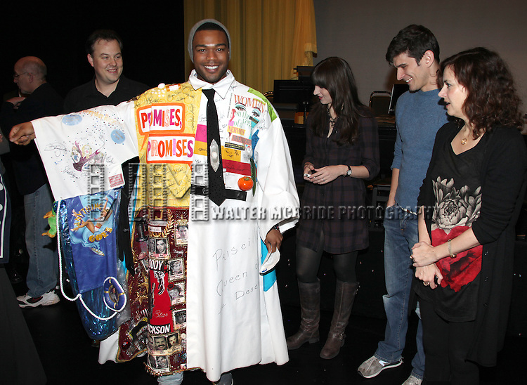 Tad Wilson (Recipient-BONNIE & CLYDE), Grasan Kingsberry (Recipient-ON A CLEAR DAY) with Kendal Hartse, Patrick O'Neill & Christianne Tisdale.attending the 'Hugh Jackman - Back On Broadway' Post Opening Night Gypsy Robe Ceremony for recipient Kearran Giovanni at the Broadhurst Theatre in New York City. 12/15/2011