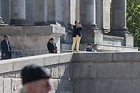"""""""Marsch fuer das Leben"""" des konservativen Bundesverbandes Lebensrecht (BVL) am Samstag den 21. September 2019 in Berlin. Mehrere tausend Lebensschuetzer zogen mit dem jaehrlichen """"Marsch fuer das Leben"""" durch die Berliner Innenstadt. Sie sind gegen ein Selbsbestimmungsrecht der Frau und fuer ein Verbot von Abtreibung.<br /> Im Bild: Beatrix Amelie Ehrengard Eilika von Storch, geborene Herzogin von Oldenburg, stellv. Fraktionsvorsitzende der rechtsradikalen """"Alternative fuer Duetschland (AfD) im Deutschen Bundestag, fotografiert vom Portal der Reichstag die Veranstaltung.<br /> 21.9.2019, Berlin<br /> Copyright: Christian-Ditsch.de<br /> [Inhaltsveraendernde Manipulation des Fotos nur nach ausdruecklicher Genehmigung des Fotografen. Vereinbarungen ueber Abtretung von Persoenlichkeitsrechten/Model Release der abgebildeten Person/Personen liegen nicht vor. NO MODEL RELEASE! Nur fuer Redaktionelle Zwecke. Don't publish without copyright Christian-Ditsch.de, Veroeffentlichung nur mit Fotografennennung, sowie gegen Honorar, MwSt. und Beleg. Konto: I N G - D i B a, IBAN DE58500105175400192269, BIC INGDDEFFXXX, Kontakt: post@christian-ditsch.de<br /> Bei der Bearbeitung der Dateiinformationen darf die Urheberkennzeichnung in den EXIF- und  IPTC-Daten nicht entfernt werden, diese sind in digitalen Medien nach §95c UrhG rechtlich geschuetzt. Der Urhebervermerk wird gemaess §13 UrhG verlangt.]"""