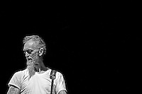 The Swans perform during Roma Incontra Il Mondo festival at Villa Ada, Rome, Italy, on 15 July 2015.<br /> In this picture: Norman Westberg.<br /> Photo by Valeria Magri