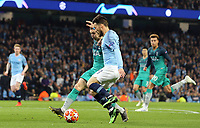 Manchester City's David Silva battles with Tottenham Hotspur's Kieran Trippier<br /> <br /> Photographer Rich Linley/CameraSport<br /> <br /> UEFA Champions League - Quarter-finals 2nd Leg - Manchester City v Tottenham Hotspur - Wednesday April 17th 2019 - The Etihad - Manchester<br />  <br /> World Copyright © 2018 CameraSport. All rights reserved. 43 Linden Ave. Countesthorpe. Leicester. England. LE8 5PG - Tel: +44 (0) 116 277 4147 - admin@camerasport.com - www.camerasport.com