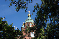 La Cattedrale Ortodossa Uspenski. The Uspenski Orthodox Cathedral.