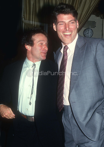 RobinWilliams ChrisReeve 1985<br /> Photo by John Barrett/PHOTOlink.net