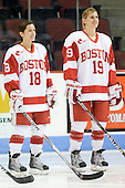 Jillian Kirchner (BU - 18), Jenelle Kohanchuk (BU - 19) - The Boston University Terriers defeated the Providence College Friars 5-3 on Saturday, November 14, 2009, at Agganis Arena in Boston, Massachusetts.