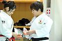 Misato Nakamura, Yuka Nishida, MARCH 28, 2012 - Judo : Japanese women's national team open the practice for press at Ajinomoto National Trining center in Itabashi, Japan. (Photo by Atsushi Tomura /AFLO SPORT) [1035]