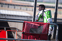 Enea Bastianini in pit line at pre season winter test IRTA Moto3 & Moto2 at Ricardo Tormo circuit in Valencia (Spain), 11-12-13 February 2014