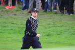 Rory McIlroy walking onto the 16th green on day two Foursomes matches  on saturday afternoon at the 2010 Ryder Cup at the Celtic Manor twenty ten course, Newport Wales, 2/10/2010.Picture Fran Caffrey/www.golffile.ie.