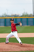 Loy Hickmon (5) of St John'S College High School in Silver Spring, Maryland during the Under Armour All-American Pre-Season Tournament presented by Baseball Factory on January 15, 2017 at Sloan Park in Mesa, Arizona.  (Freek BouwMike Janes Photography)