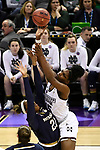 COLUMBUS, OH - APRIL 1: Teaira McCowan #15 of the Mississippi State Bulldogs shoots over Kristina Nelson #21 of the Notre Dame Fighting Irish  during the championship game of the 2018 NCAA Division I Women's Basketball Final Four at Nationwide Arena in Columbus, Ohio. (Photo by Tim Nwachukwu/NCAA Photos via Getty Images)