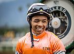 MAY 27: Asael Espinoza at Santa Anita at Santa Anita Park in Arcadia, California on May 27, 2019. Evers/Eclipse Sportswire/CSM