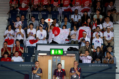 Fans (JPN), .JULY 28, 2012 - Badminton : .Group Play Stage at Wembley Arena .during the London 2012 Olympic Games in London, UK.  (Photo by Enrico Calderoni/AFLO SPORT) [0391]