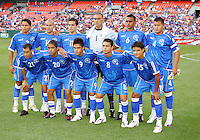Starting eleven of El Salvador during an international charity match against D.C. United at RFK Stadium, on June 19 2010 in Washington DC. D.C. United won 1-0.