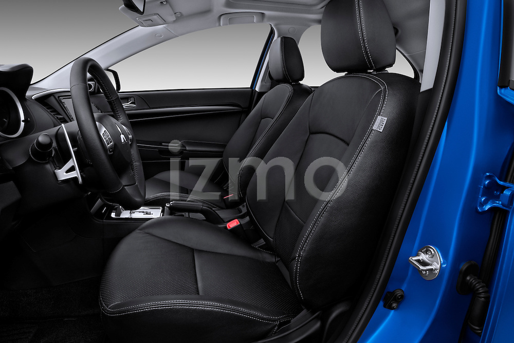 Front seats of a 2012 Mitsubishi Lancer Sportback GT