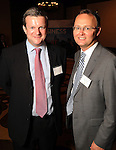 Huw Rothwell and James McLennan at the UK Energy Excellence reception at the Hilton Post Oak Hotel Monday April 30,2012. (Dave Rossman Photo)