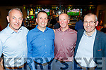 L-R Martin Boyde, John Fox, Frank Ryan and Ken Hayes at the Tralee Bay Swimming Club social last Saturday night in the Meadowlands hotel, Tralee.