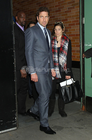 NEW YORK , NY DECEMBER 5: Gerard Butler at Good Morning America to discuss his new film, 'Playing For Keeps'. New York City. December 5, 2012. Credit: RW/MediaPunch Inc.