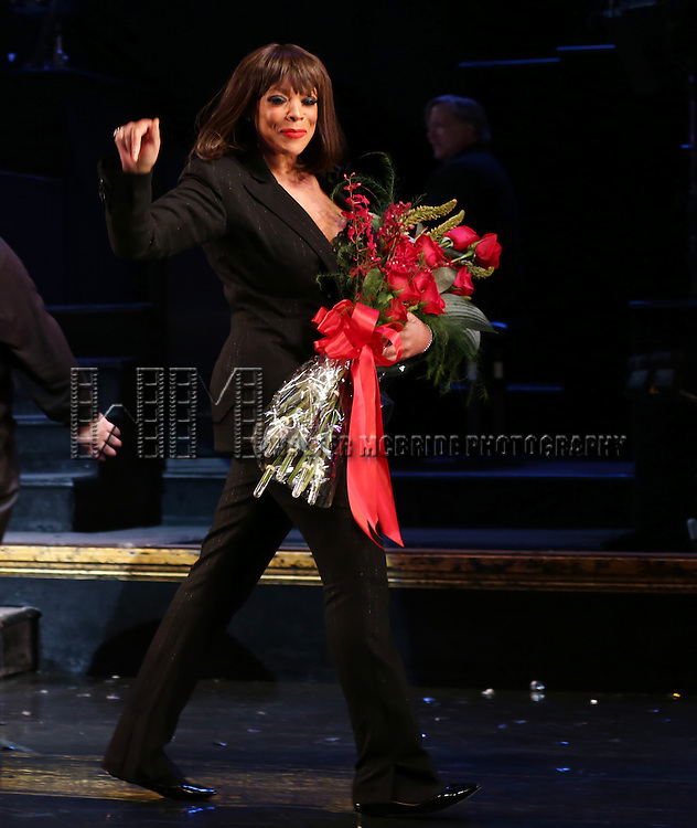 """Wendy Williams during the Curtain Call for Wendy Williams making her Broadway stage debut as Matron """"Mama"""" Morton in CHICAGO at the Ambassador Theatre on July 1, 2013 in New York City."""