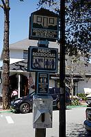 CARMEL - APR 29: Signs in Carmel, California on April 29, 2011.