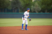 AZL Dodgers Mota shortstop Yhostin Chirinos (58) during an Arizona League game against the AZL Rangers at Camelback Ranch on June 18, 2019 in Glendale, Arizona. AZL Dodgers Mota defeated AZL Rangers 13-4. (Zachary Lucy/Four Seam Images)
