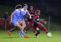 Boyds, MD - Friday Sept. 30, 2016: Sofia Huerta, Arin Gilliland, Crystal Dunn during a National Women's Soccer League (NWSL) semi-finals match between the Washington Spirit and the Chicago Red Stars at Maureen Hendricks Field, Maryland SoccerPlex. The Washington Spirit won 2-1 in overtime.