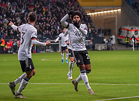 celebrate the goal, Torjubel zum 1:1 Ausgleich Serge Gnabry (Deutschland Germany) - 19.11.2019: Deutschland vs. Nordirland, Commerzbank Arena Frankfurt, EM-Qualifikation DISCLAIMER: DFB regulations prohibit any use of photographs as image sequences and/or quasi-video.