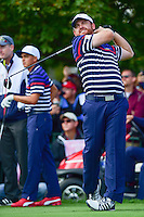 J.B. Holmes (USA) watches his tee shot on 11 during the practice round at the Ryder Cup, Hazeltine National Golf Club, Chaska, Minnesota, USA.  9/29/2016<br /> Picture: Golffile | Ken Murray<br /> <br /> <br /> All photo usage must carry mandatory copyright credit (&copy; Golffile | Ken Murray)