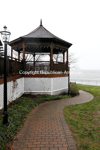 Woodbury, CT- 20 April 2014-042014CM09- A gazebo at the Owenego Inn along the Long Island Sound in Branford.   .   Christopher Massa Republican-American