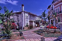 Colón sea port Caribbean Sea coast of Panama Oceanfront Houses, Central America,